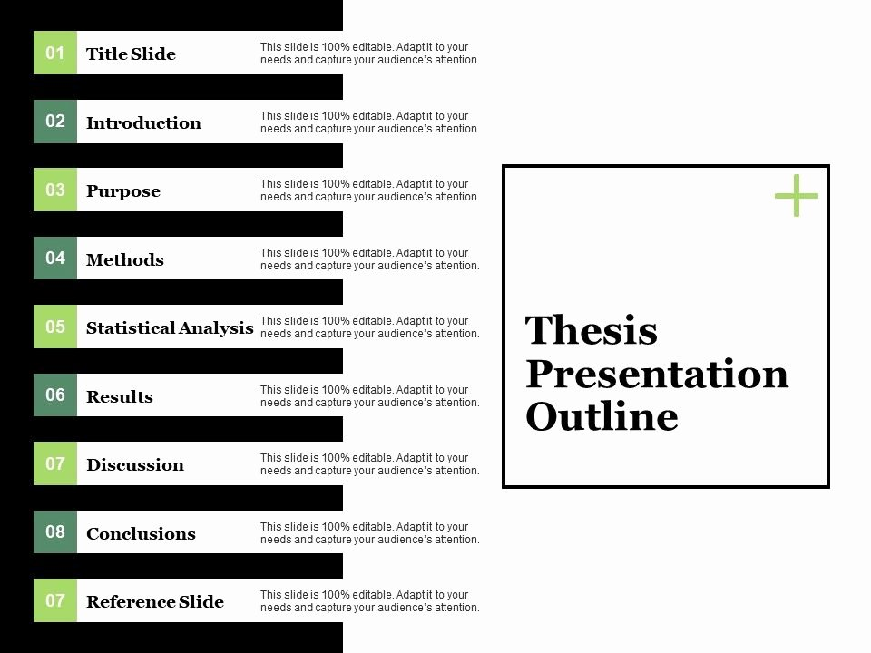 Powerpoint Presentation Outline Template Inspirational thesis Presentation Outline Ppt Visual Aids Model