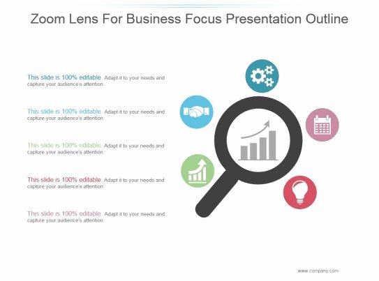 Powerpoint Presentation Outline Template Inspirational Zoom Lens for Business Focus Presentation Outline