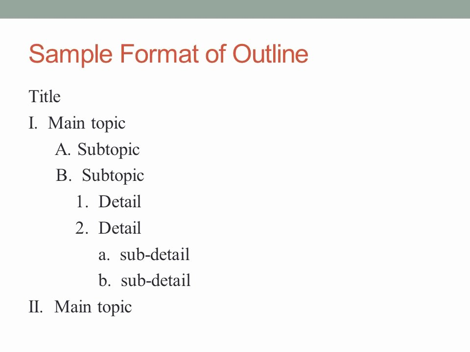 Powerpoint Presentation Outline Template New why and How to Create A Useful Outline Ppt Video Online