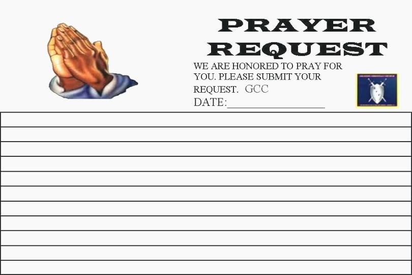 Prayer Request forms Templates Elegant top 44 Vibrant Printable Prayer Request Cards