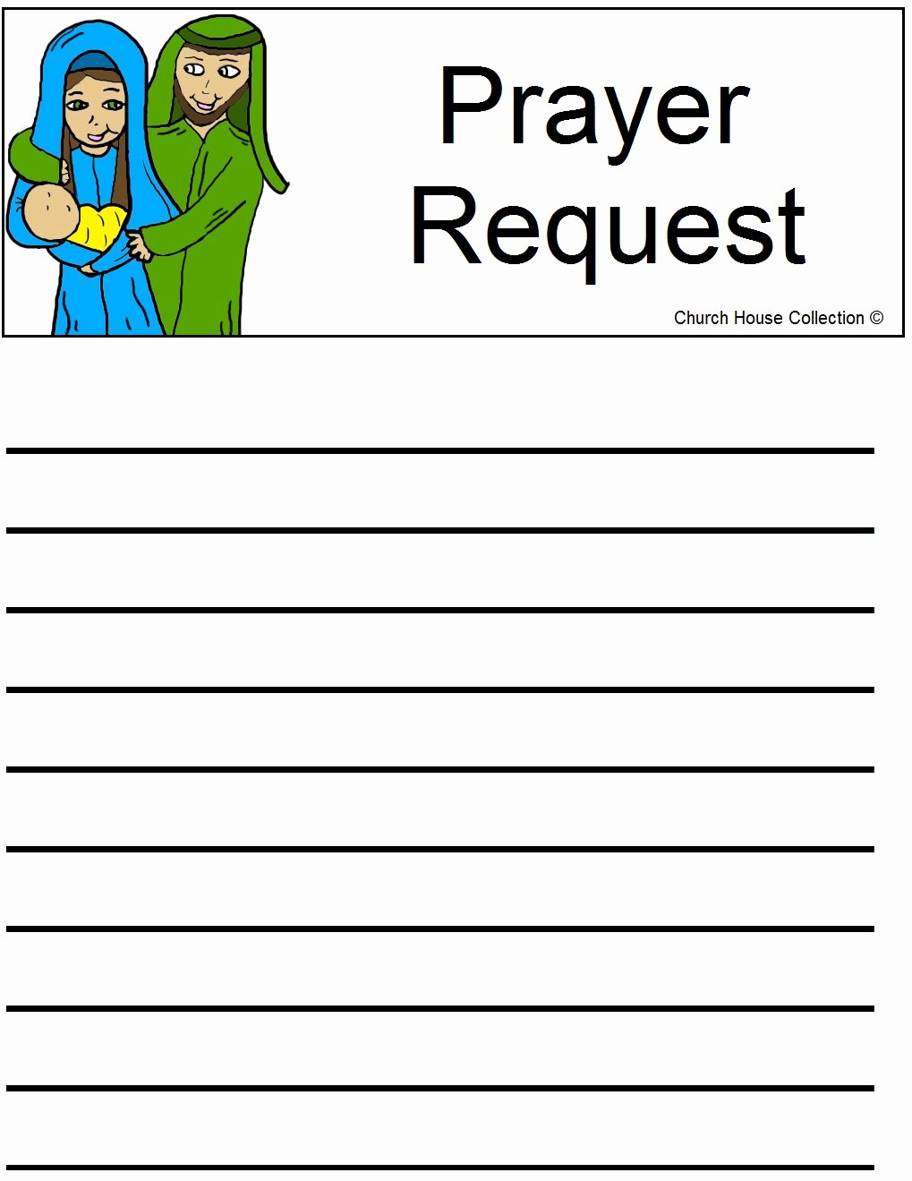 Prayer Request forms Templates Lovely Church House Collection Blog Nativity Sunday School Lesson