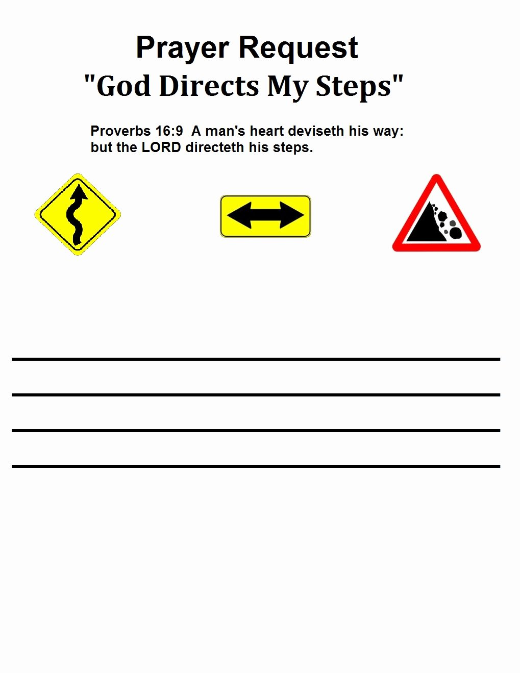 Prayer Request forms Templates Lovely God S Road Signs Lesson