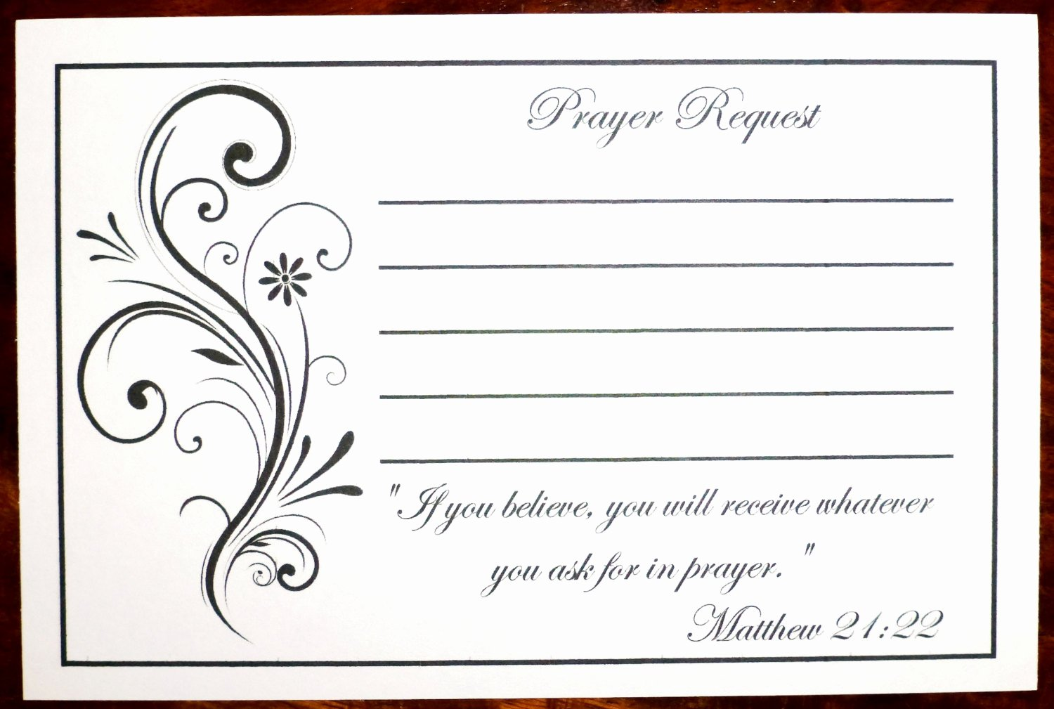 pack of 100 prayer request cards