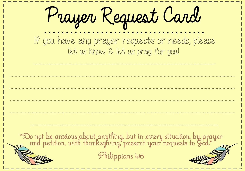 Prayer Request forms Templates New Prayer Request Card Idea Mops Pinterest