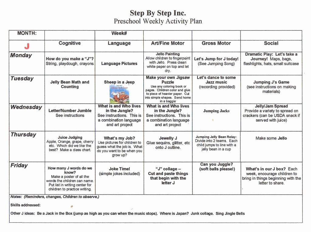 Preschool Daily Lesson Plan Template Unique Emergent Curriculum Preschool Lesson Plan Template