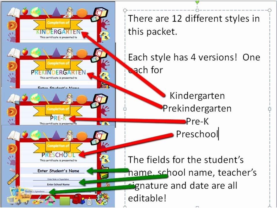 Preschool Graduation Program Templates Awesome Preschool Graduation Diplomas Resource