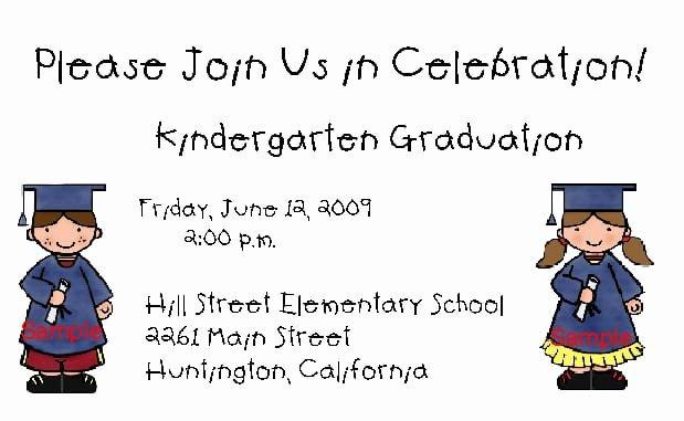Preschool Graduation Program Templates Beautiful Kindergarten Graduation Invitation Template
