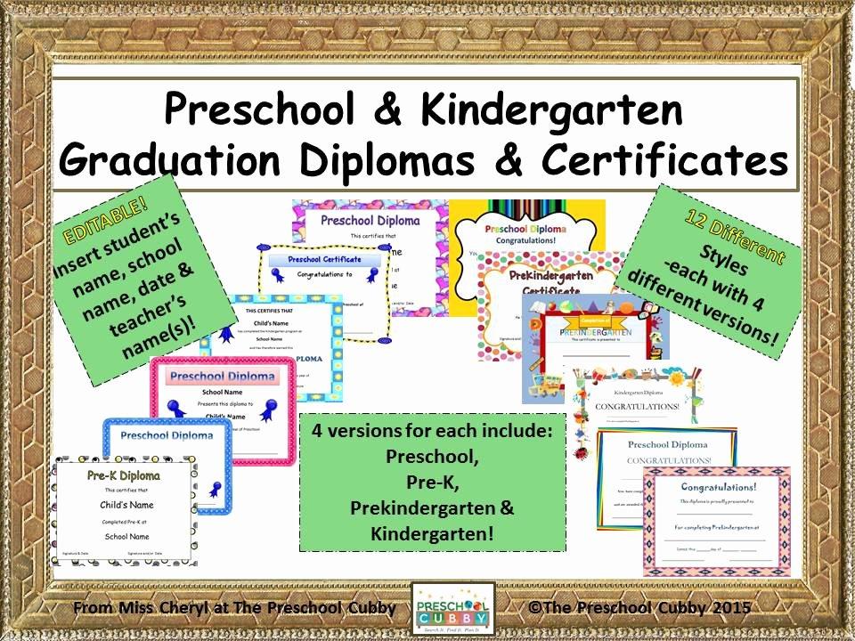 Preschool Graduation Program Templates Elegant Preschool Graduation Diplomas Resource