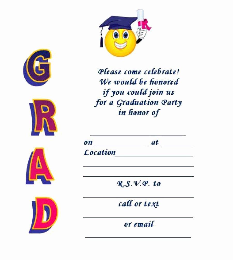Preschool Graduation Program Templates Inspirational 40 Free Graduation Invitation Templates Template Lab