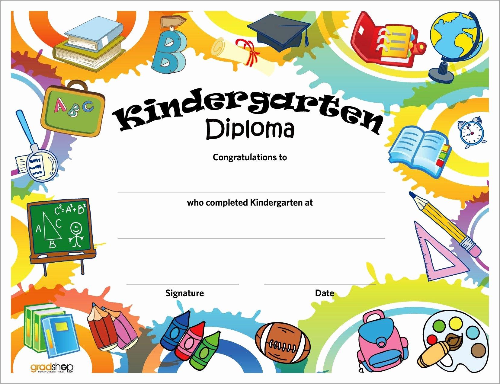 Preschool Graduation Program Templates Luxury Kindergarten Diploma Kindergarten Help