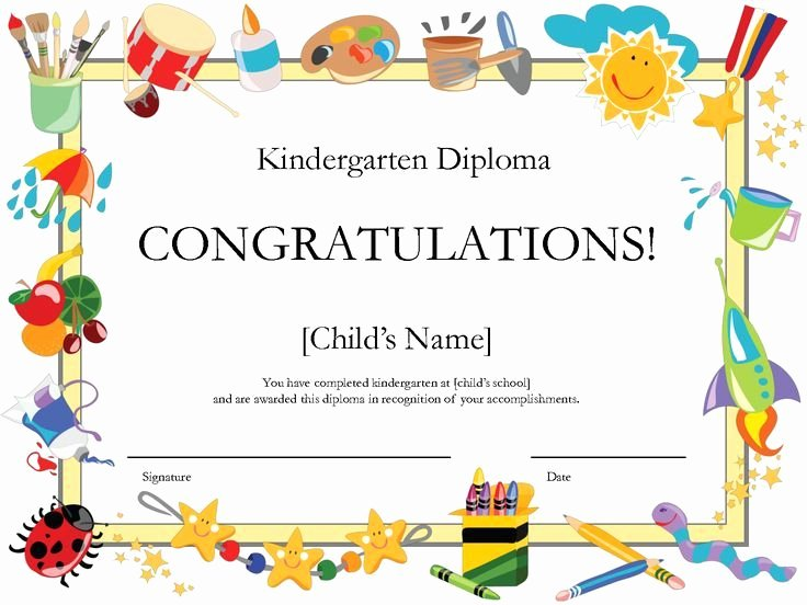 Preschool Graduation Program Templates New Kindergarten Graduation Certificate