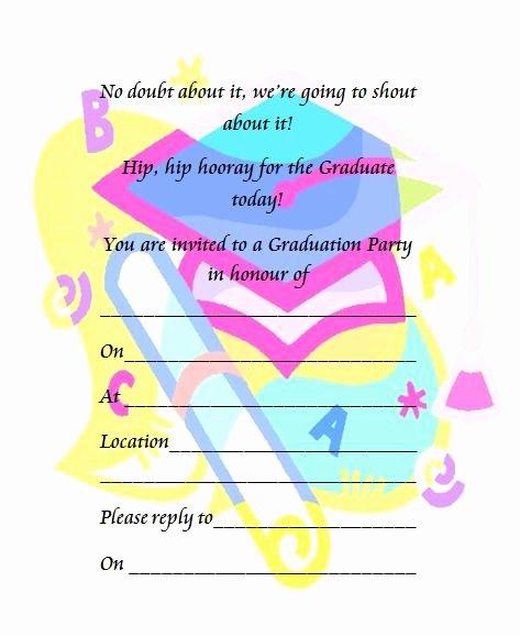 Preschool Graduation Program Templates Unique Printable Preschool Graduation Invitation
