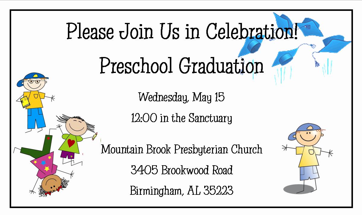 Preschool Graduation Programs Template Awesome Preschool Graduation
