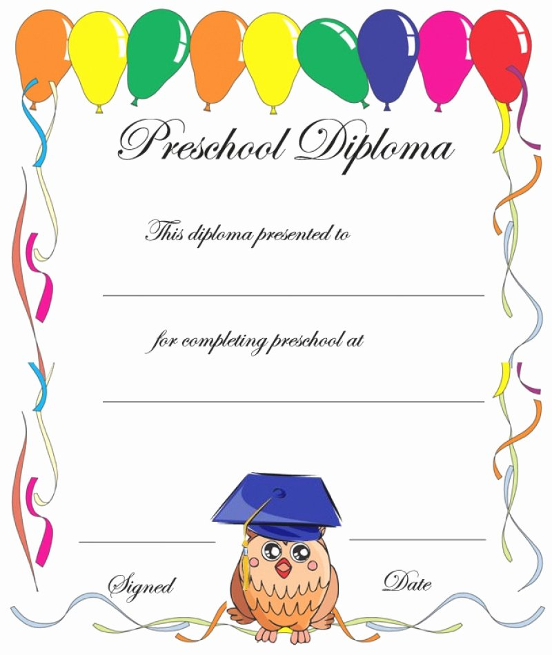 Preschool Graduation Programs Template Inspirational 11 Preschool Certificate Templates Pdf