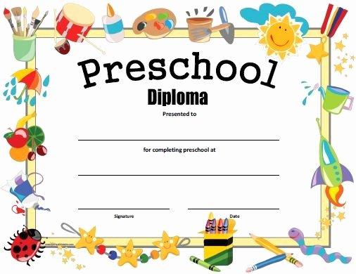 Preschool Graduation Programs Template Inspirational Free Printable Preschool Diploma Graduation