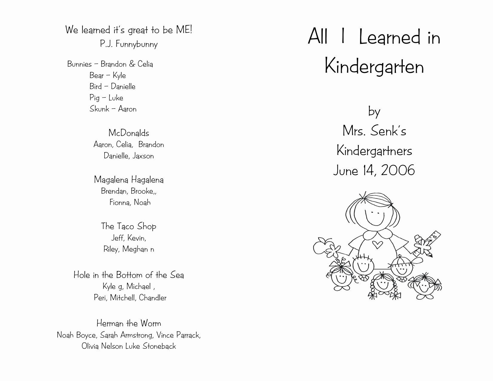 Preschool Graduation Programs Template Lovely Pre K Graduation Speech 6 Graduation Program Templates