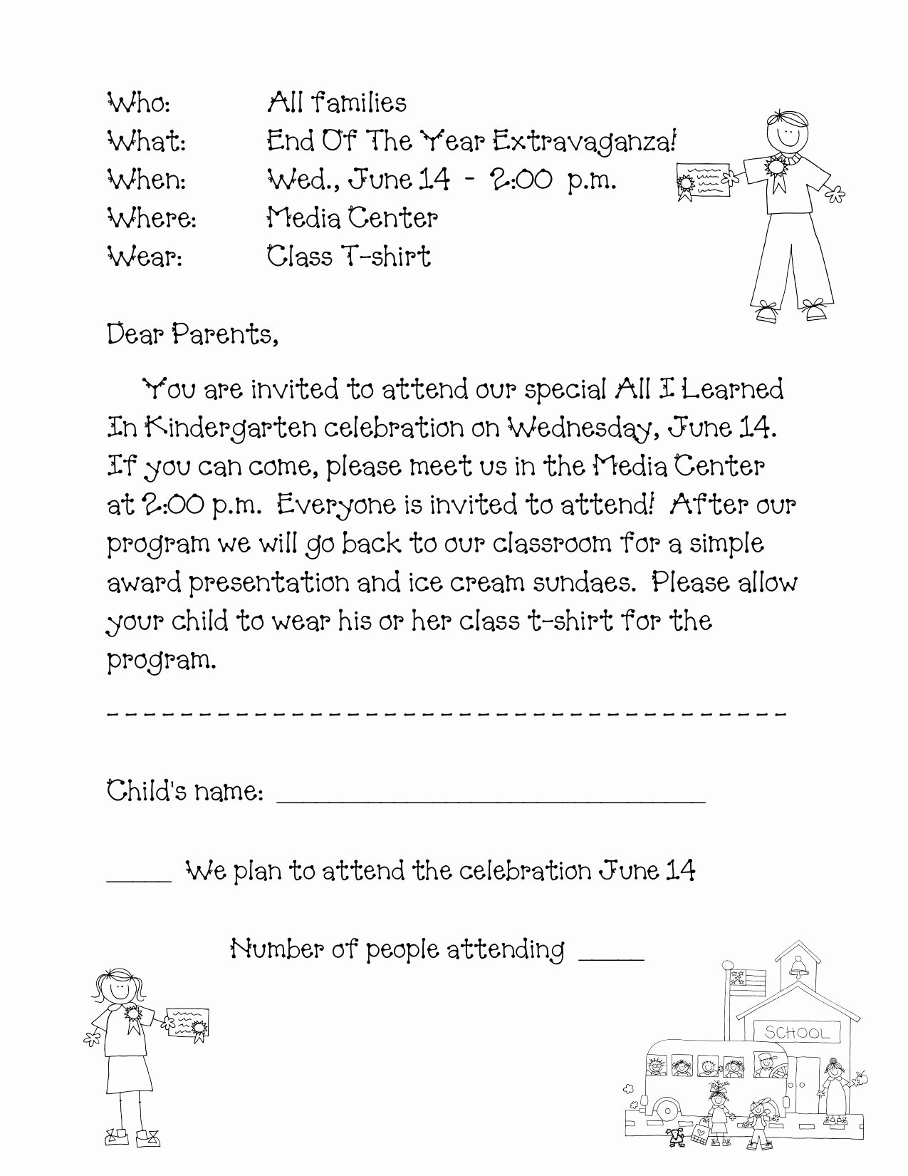 Preschool Graduation Programs Template Unique Preschool Wel E Letter to Parents From Teacher Template