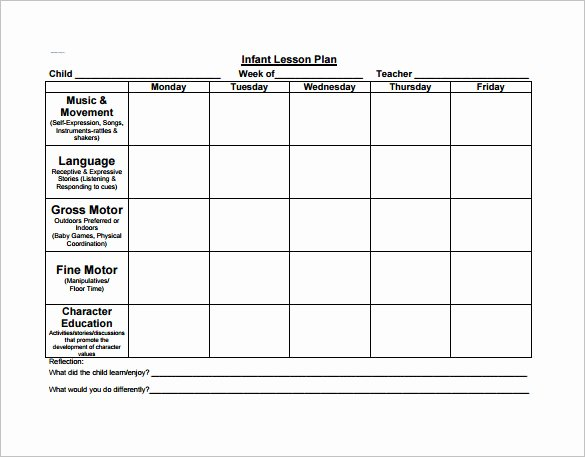 Preschool Lesson Plan Template New Preschool Lesson Plan Template 11 Free Pdf Word format