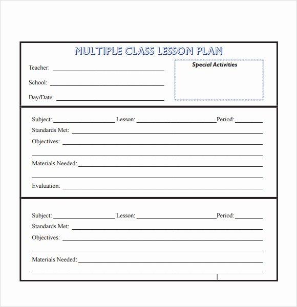 Preschool Lesson Plan Template Pdf Beautiful Free 8 Sample Lesson Plans In Pdf