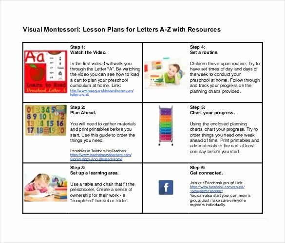 Preschool Lesson Plan Template Pdf Fresh Montessori Weekly Lesson Plan Template – Montessori