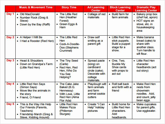 Preschool Lesson Plan Template Pdf Luxury Sample Preschool Lesson Plan 10 Pdf Word formats