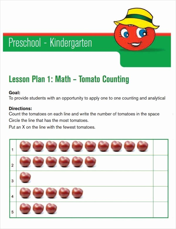 Preschool Lesson Plan Template Pdf Unique Free 10 Sample Preschool Lesson Plan Templates In Google