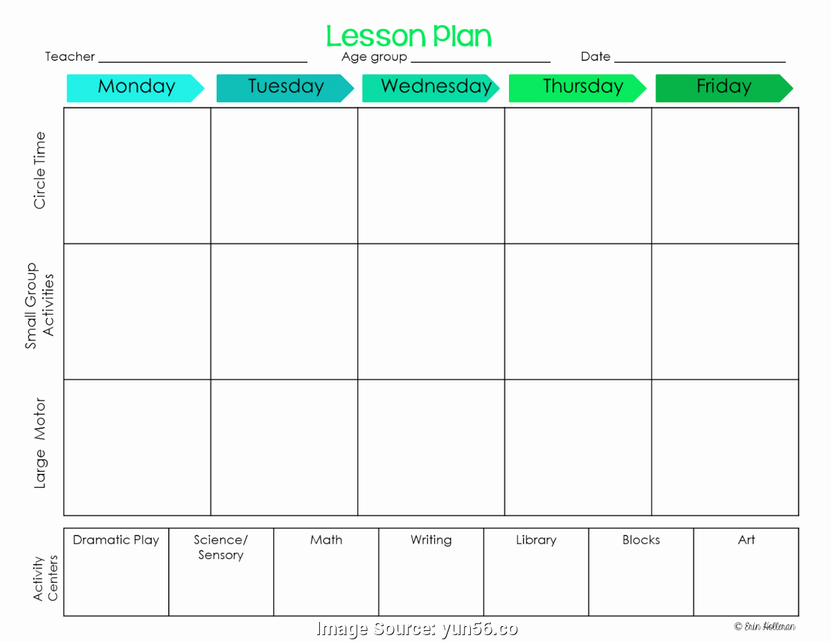 Preschool Lesson Plan Templates Elegant Simple Preschool Lesson Plans Templates Block Schedule