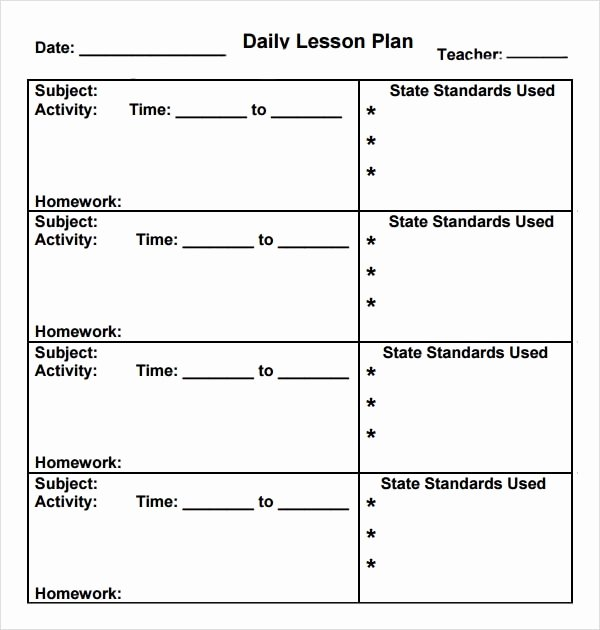 Preschool Lesson Plan Templates Luxury Free 10 Sample Preschool Lesson Plan Templates In Google