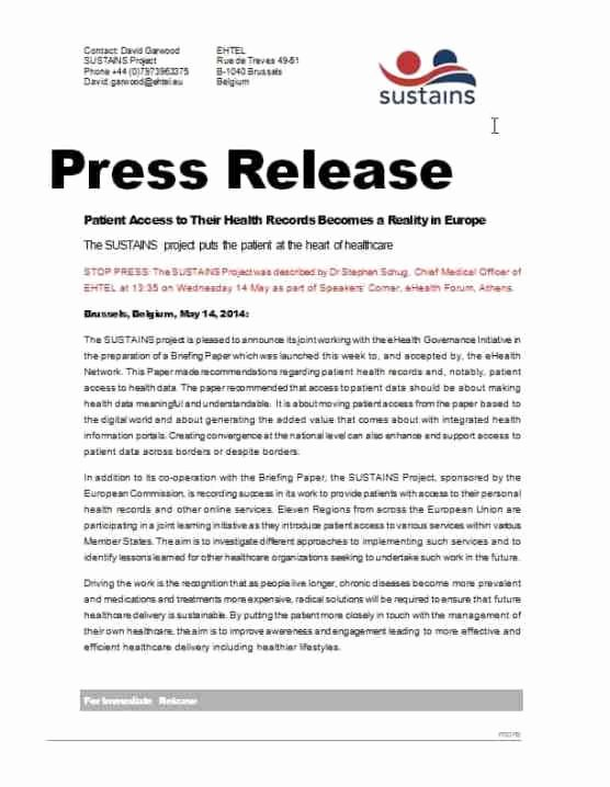 Press Release Template Doc Awesome 21 Free Press Release Template Word Excel formats