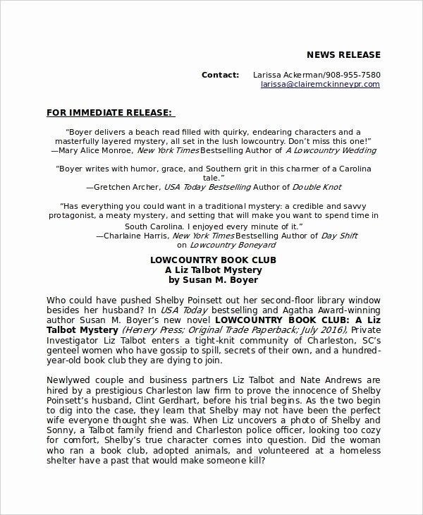 Press Release Template Doc Elegant Press Release Template 21 Free Word Pdf Document