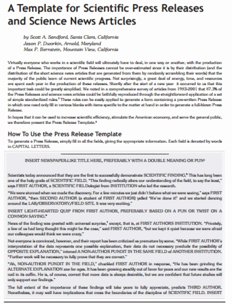 Press Release Template Doc Fresh 21 Free Press Release Template Word Excel formats