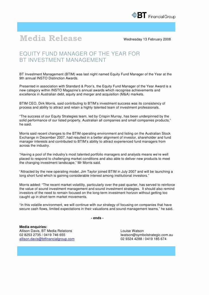Press Release Template Doc Fresh G Media Release Word Template