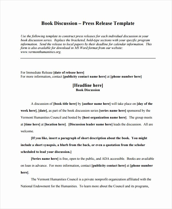 Press Release Template Doc Inspirational 19 Press Release Templates Free Sample Example format