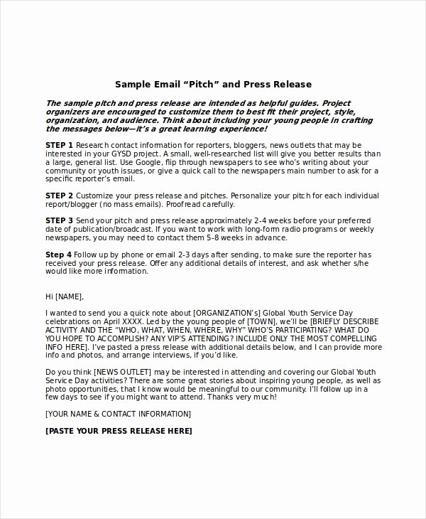 Press Release Template Doc Inspirational Press Release Template 21 Free Word Pdf Document