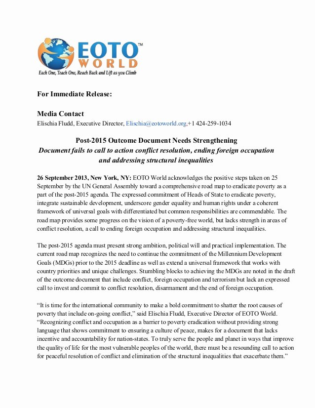 Press Release Template Doc New Post 2015 Out E Document Press Release