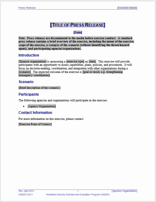 Press Release Template Word Best Of Press Release Template 15 Free Samples Ms Word Docs