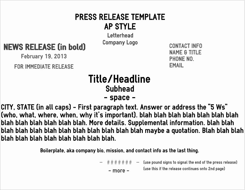 Press Release Template Word Elegant Five Pro Tips for A Rockin' News Release