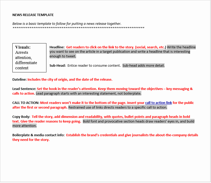 Press Release Template Word Inspirational Press Release Template 15 Free Samples Ms Word Docs