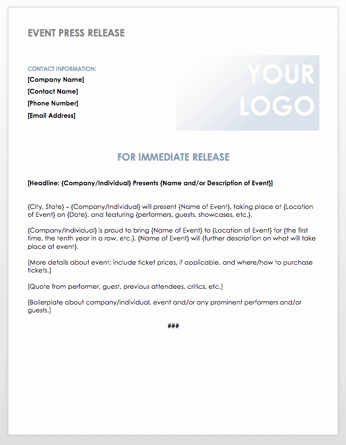 Press Release Template Word Lovely Free Press Release Templates