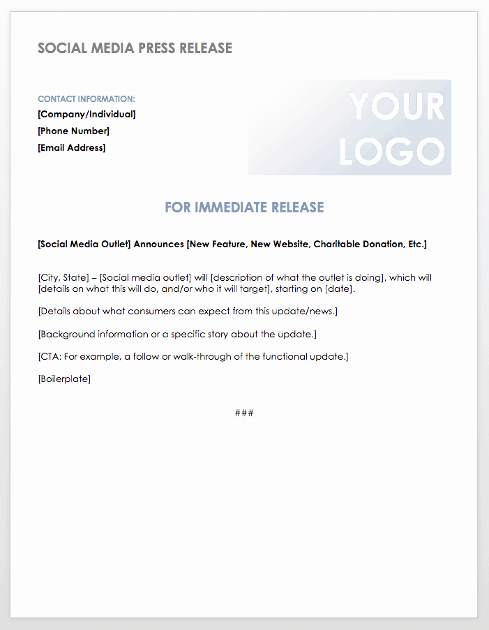 Press Release Template Word Luxury Free Press Release Templates
