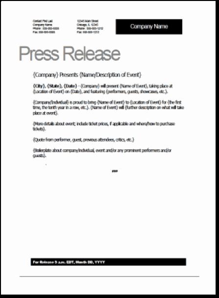 Press Release Template Word Unique top 5 Resources to Get Free Press Release Templates Word