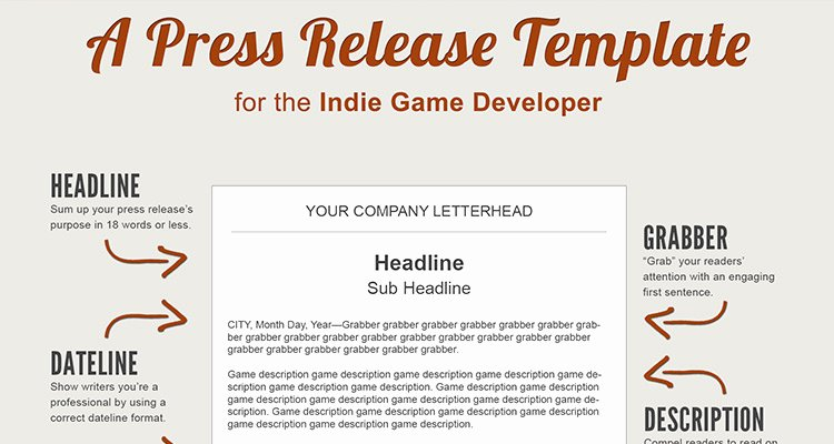 Press Release Templates Word Awesome A Press Release Template Perfect for the In Game Developer