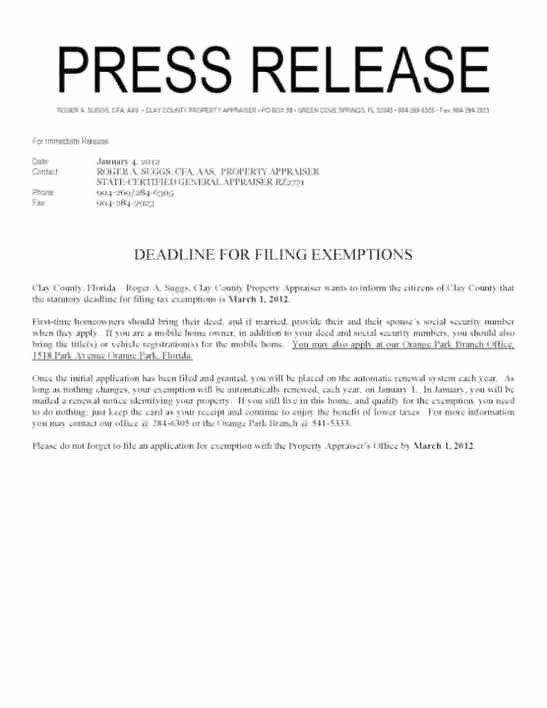 Press Release Templates Word Best Of 21 Free Press Release Template Word Excel formats
