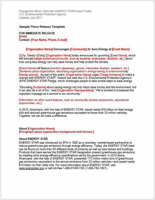 Press Release Templates Word Elegant Press Release Template 15 Free Samples Ms Word Docs