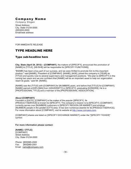 Press Release Templates Word Fresh top 5 Resources to Get Free Press Release Templates Word