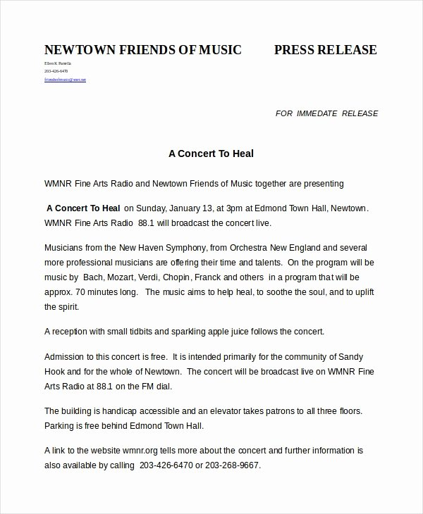 Press Release Templates Word Luxury Press Release Template
