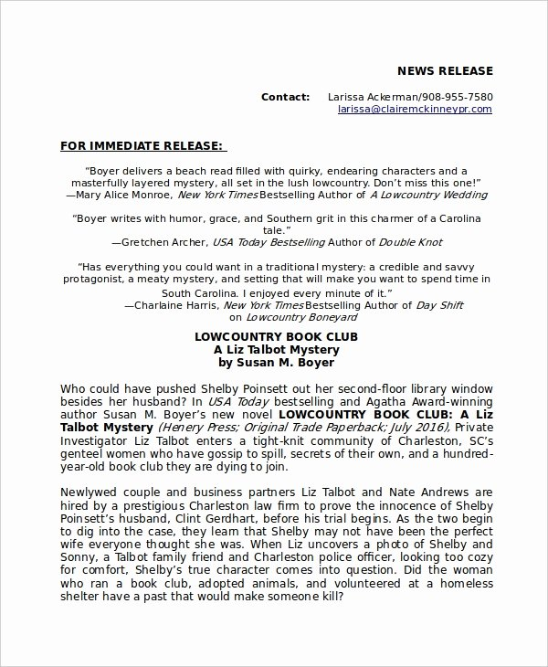 Press Release Templates Word Unique Press Release Template 21 Free Word Pdf Document