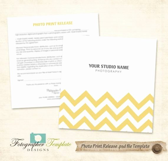 Print Release form Template Awesome Chevron Print Release form Template Graphy forms A708