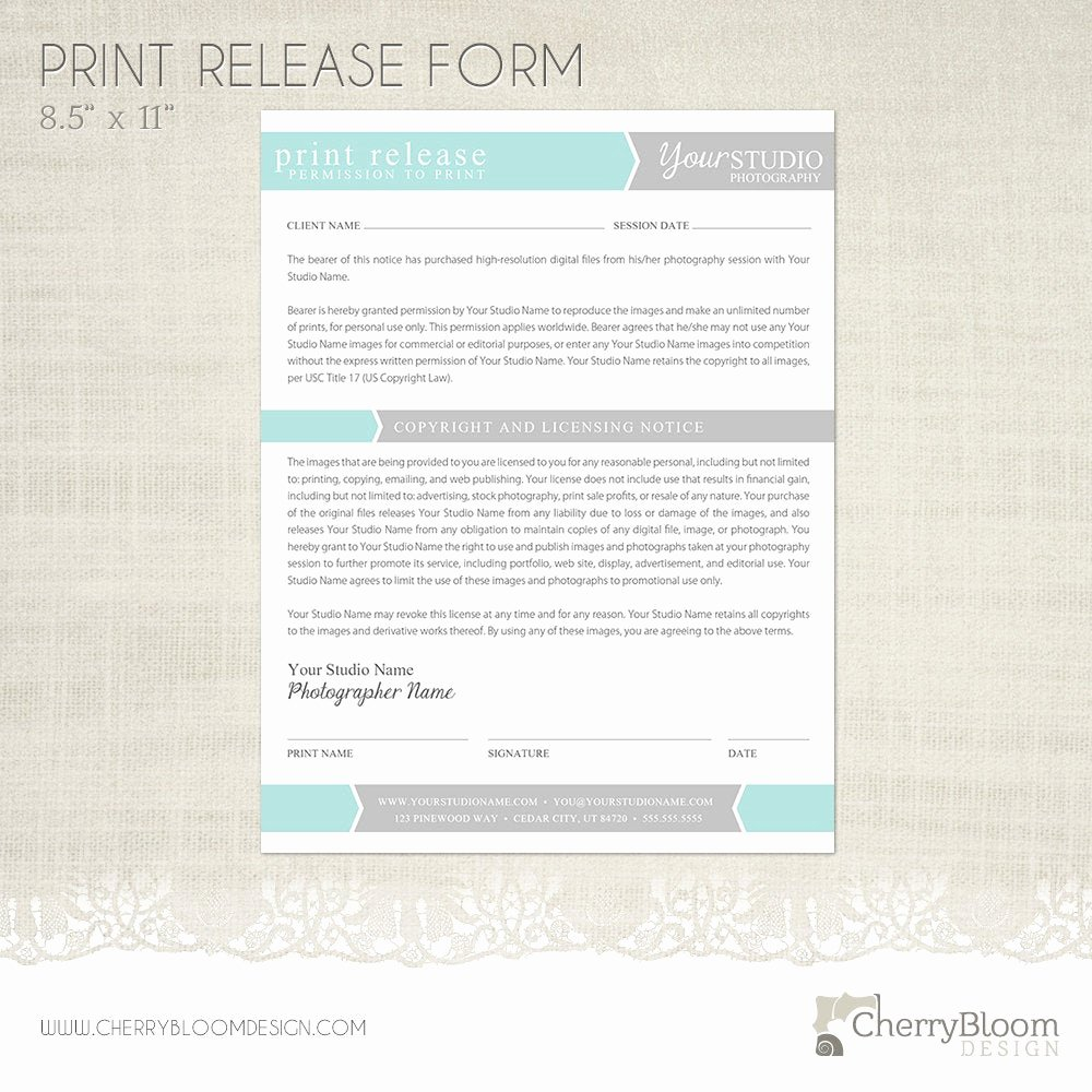 Print Release form Template Awesome Print Release form Template for Graphers Grapher