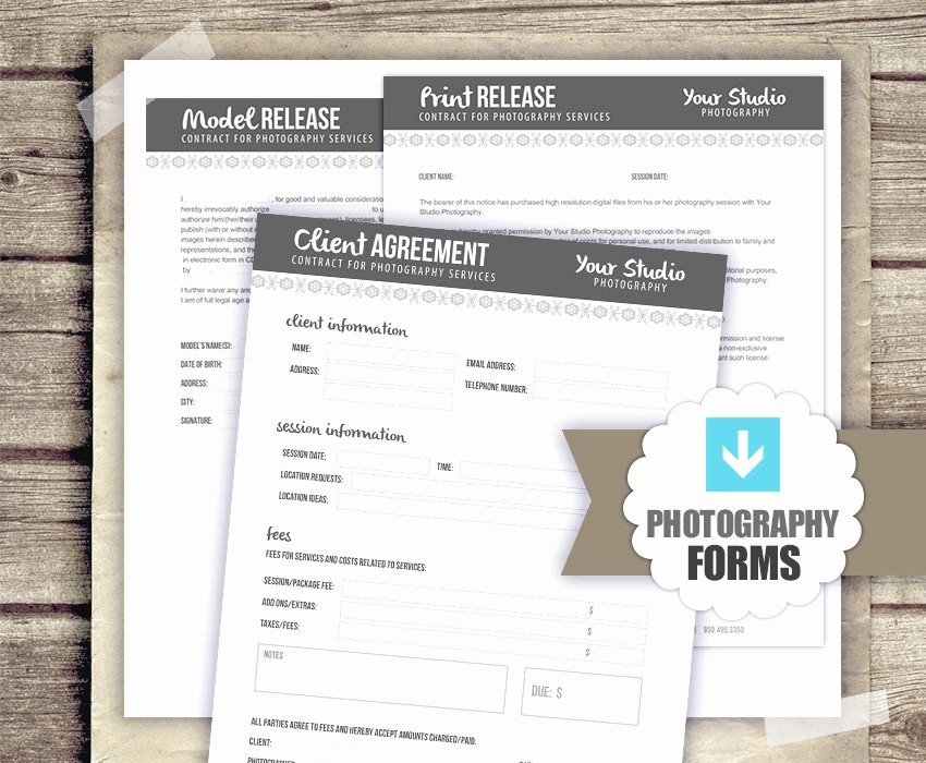 Print Release form Template Elegant Graphy Business forms Client Agreement Print Release